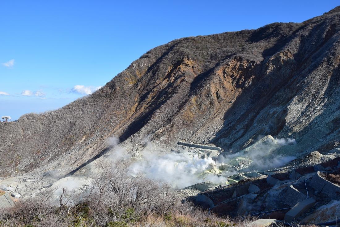 Souffre Montagne Mont Fuji Japon